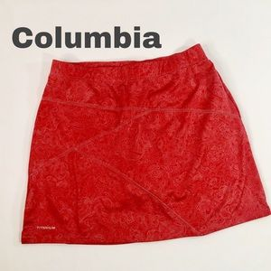 Columbia Titanium Red Skort